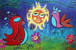 Art: Sun Birds by Artist Laura Barbosa