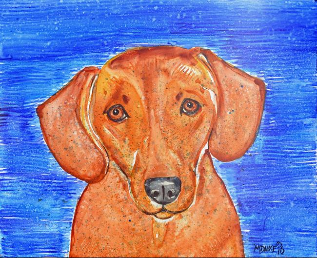 Art: Color Dog 1 by Artist Melinda Dalke