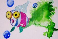 Art: Big Eyed Fish by Artist Delilah Smith