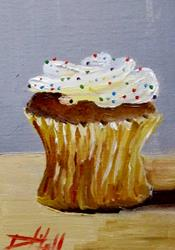 Art: Cupcake with Sprinkles by Artist Delilah Smith