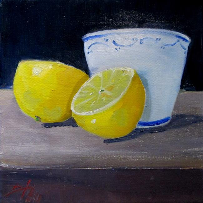 Art: Still Life with Lemon by Artist Delilah Smith