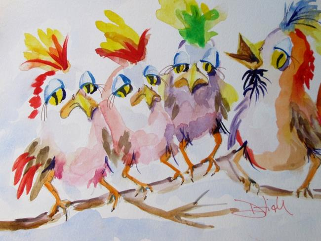 Art: Spring Birds-sold by Artist Delilah Smith