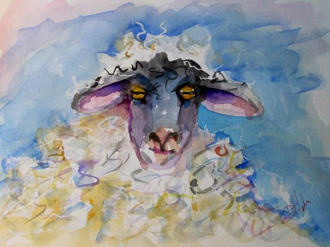 Art: Fluffy Sheep by Artist Delilah Smith