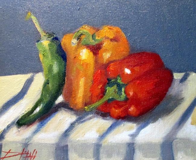 Art: Pepper Still Life by Artist Delilah Smith
