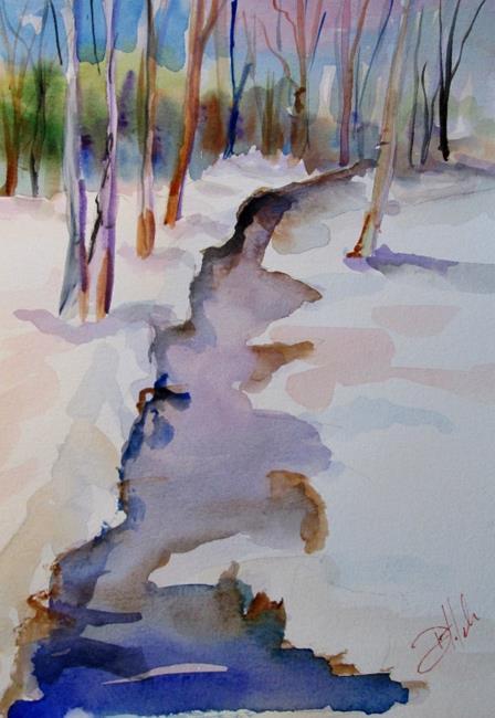 Art: Winter Stream by Artist Delilah Smith