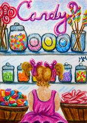 Art: Candy Shoppe - MM03  (SOLD) by Artist Monique Morin Matson