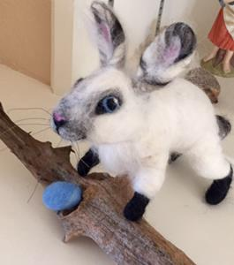 Detail Image for art Needle Felted Bunny