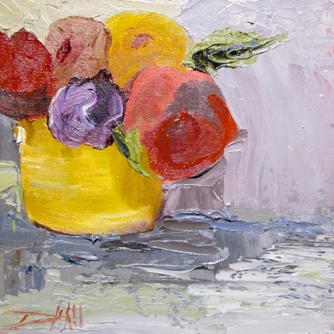 Art: Flowers in a Yellow Vase by Artist Delilah Smith
