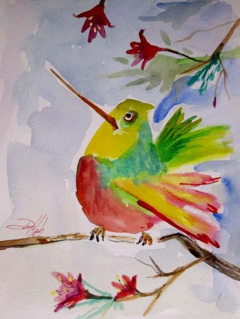 Art: Fat Hummingbird by Artist Delilah Smith