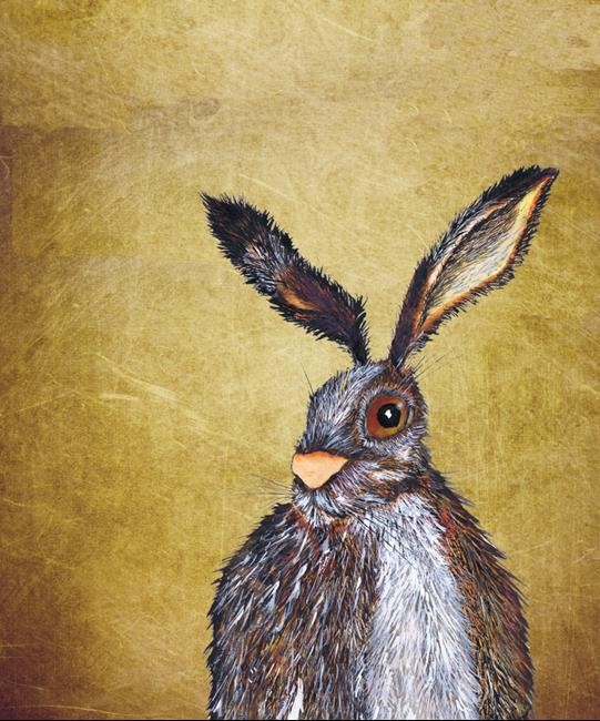Art: BROWN HARE H3214 by Artist Dawn Barker
