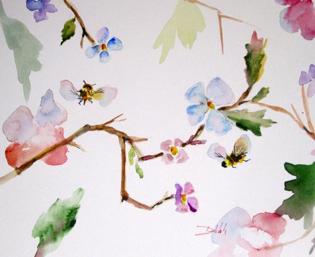 Art: Blossoms Bees by Artist Delilah Smith