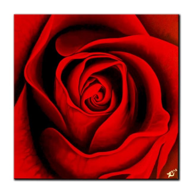 Art: RED ROSE by Artist Kate Challinor