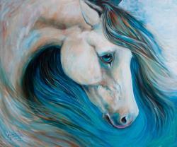 Art: BUCKSKIN BLUES by Artist Marcia Baldwin