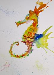Art: Wild Seahorse by Artist Delilah Smith
