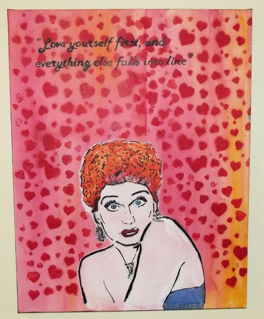 Art: I Love Lucy Love Yourself by Artist Paul Lake, Lucky Studios