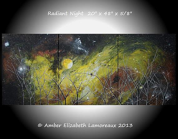 Art: Radiant Night (sold) by Artist Amber Elizabeth Lamoreaux