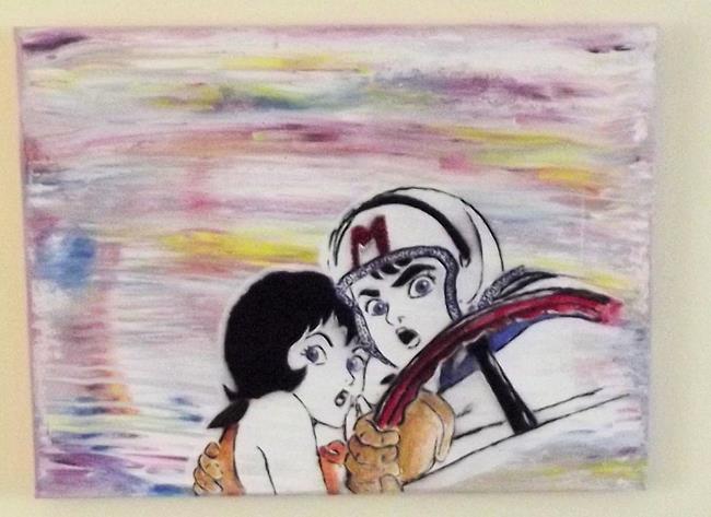 Art: Speed and Trixie Pop Graffiti Art by Artist Paul Lake, Lucky Studios
