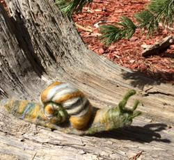 Art: Needle Felted Snail by Artist Ulrike 'Ricky' Martin