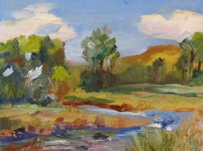 Art: Landscape and Stream by Artist Delilah Smith