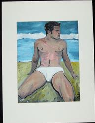Art: Beach by Artist Paul Lake, Lucky Studios