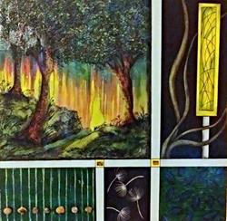 Art: Woods as Nature's Church by Artist Vicky Helms