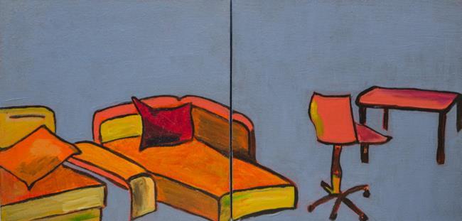 Art: Cheerful living (diptych) by Artist Gabriele M.