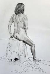 Art: Life Drawing by Artist Mark Satchwill
