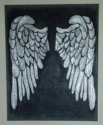 Art: Silver Wings by Artist Jennifer Lee