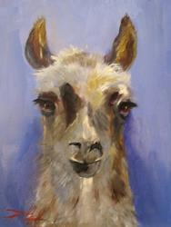 Art: Llama by Artist Delilah Smith