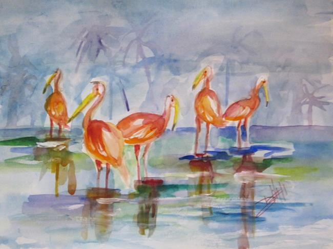 Art: Tropical Birds by Artist Delilah Smith