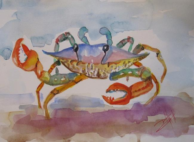 Art: Happy Crab by Artist Delilah Smith