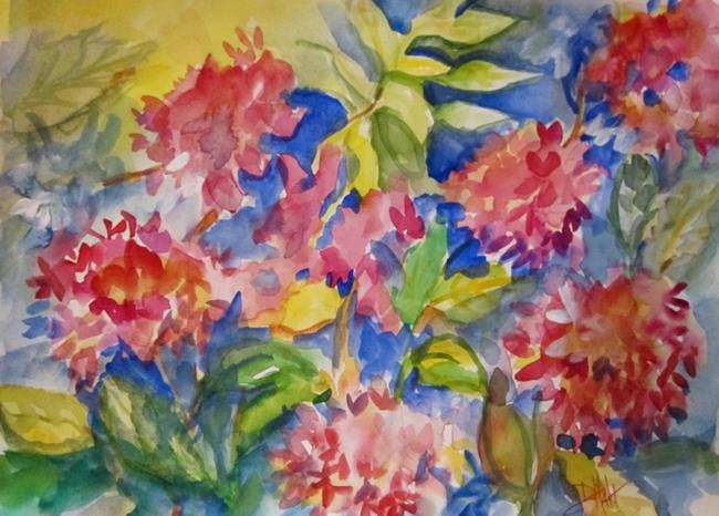 Art: Pink Hydrangeas by Artist Delilah Smith
