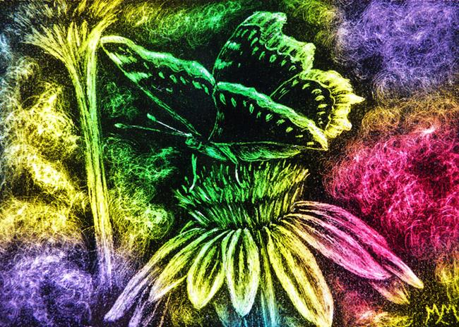Art: SA117 - Colorful Butterfly  (SOLD) by Artist Monique Morin Matson