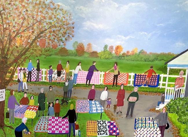 Art: Craig's Quilt Sale (Commission) by Artist Fran Caldwell