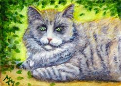 Art: Gray Tabby  (SOLD) by Artist Monique Morin Matson