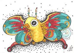 Art: Butterbird by Artist Emily J White