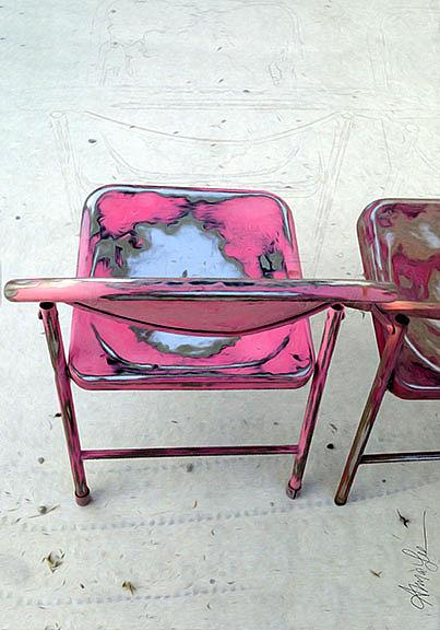 Art: Saved you a Chair by Artist Alma Lee