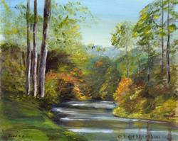 Art: Autumn River 2 by Artist Janet M Graham