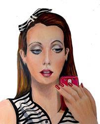 Art: Portrait Official She Shack Studio Model SOLD by Artist Alma Lee