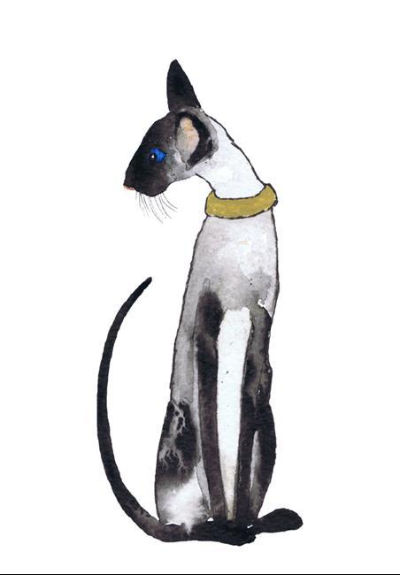 Art: SIAMESE CAT c325 by Artist Dawn Barker