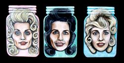 Art: Star-n-Jars: A Tribute to Dolly, Loretta and Tammy by Artist Patience