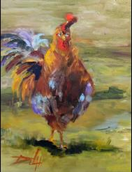 Art: Caesar the Rooster by Artist Delilah Smith