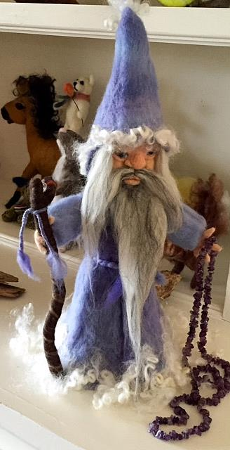 Art: Needle Felted Wizard by Artist Ulrike 'Ricky' Martin