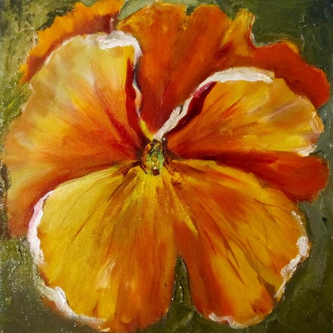 Art: Pansy No.2 by Artist Delilah Smith