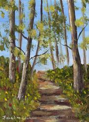 Art: Spring Track ACEO by Artist Janet M Graham