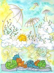 Art: Zees, Keys, and Bees by Artist Emily J White