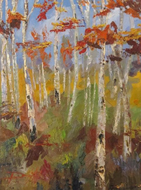 Art: Brush Stroks Birches by Artist Delilah Smith