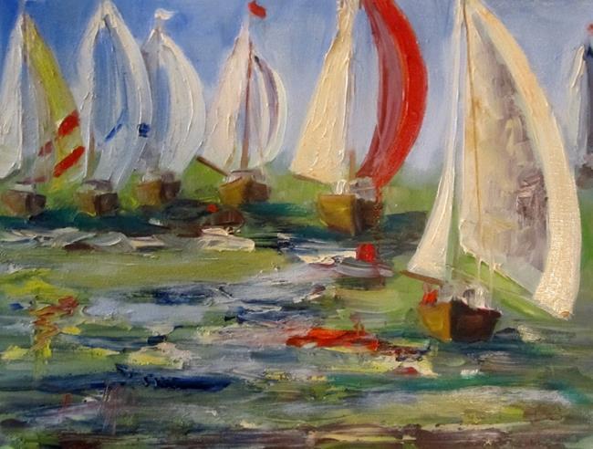 Art: Sailboats 6 by Artist Delilah Smith