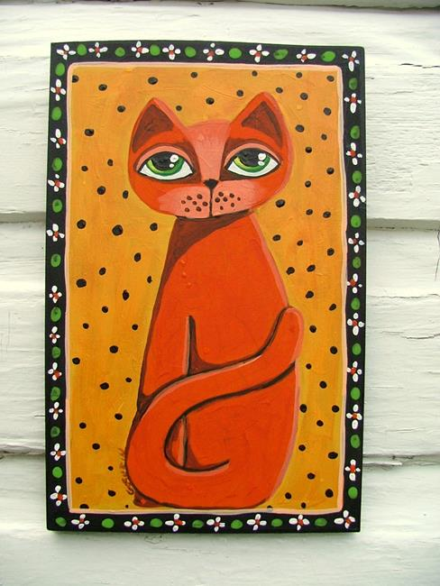 Art: Red Cat by Artist Cindy Bontempo (GOSHRIN)