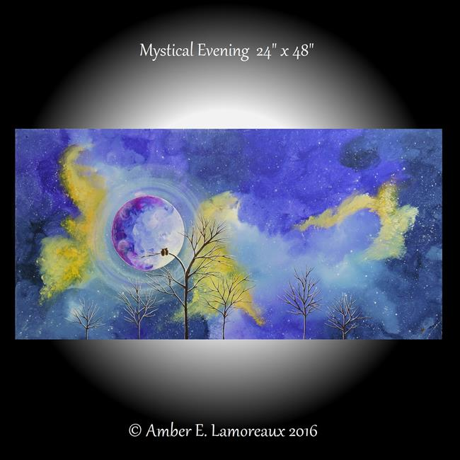 Art: Mystical Evening (sold) by Artist Amber Elizabeth Lamoreaux